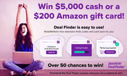 Get Instant Savings and a Chance to Earn a Prize with RetailMeNot's Deal Finder